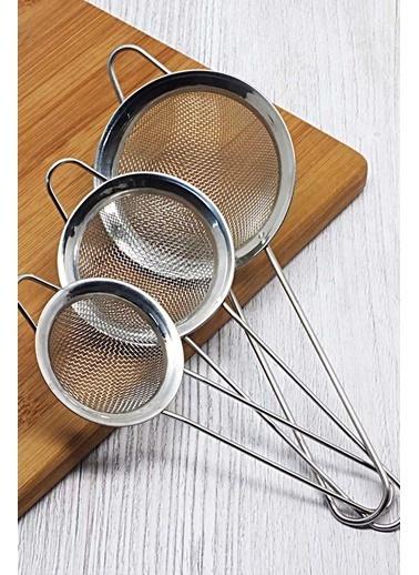 Kitchen Love Kitchen Love 3 Boy Asma Halkalı Paslanmaz Çelik Sapsız Çay Süzgeci Gümüş